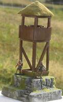 Wikinger Wachturm Ferawen, 3166, auf Base zu 7cm Sammelfiguren, Fertigmodell