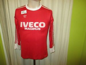 """FC Bayern Munich adidas Long Sleeve Home Jersey 1982-1984 """" Iveco Magirus """" SIZE"""