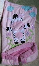 Little Miracles Costco Pink Plush Minky Sherpa Zebra Flowers Baby Girl Blanket