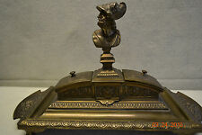 Antique Bronze Desk Set  Historical Athenian Statesman PERICLES 495 BC #203322M