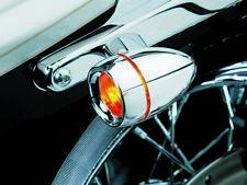 KURYAKYN - 2109 - Chrome Deep Dish Bezels with Red Lenses