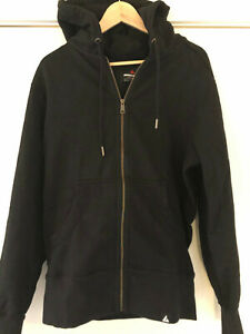 American Giant BLACK Heavy Cotton Classic Full-Zip Hoodie USA-Made LARGE