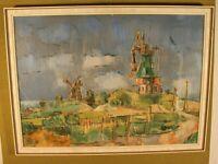 """Gustav Deppe (Essen1913-1999Witten )""""Mühle Amrum Südtondern""""Gouache,60cm x83 cm"""