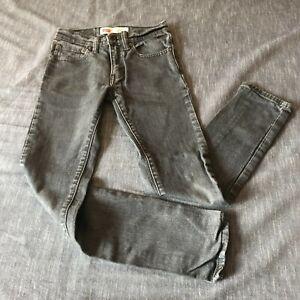 Levi's 510 skinny jeans gray youth boys size 12 reg 26x26