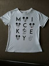 UK 8 DISNEY PRIMARK MICKEY MOUSE LADIES T SHIRT TOP ATMOSPHERE WHITE GIRLS TEENS