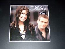 CD SINGLE - MARILOU & GAROU - TU ES COMME CA - 2005 + CLIP