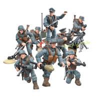 8pcs/lot DE Militär Soldaten Figuren mit WW2 Waffen Bausteine Blocks Spielzeug