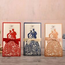Bride And Groom Laser Cut Wedding Invitation Cards With Customized Envelopes New