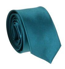 Nuevo Hombres Seda Raso Corbata Delgada Simple Multi Colores Boda Corbata