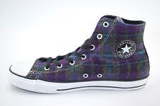 Converse Unisex Junior Flannel Purple High Top Skateboard Casual Shoes US 6