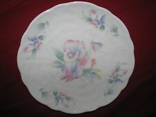 "Aynsley Little Sweetheart 8.25"" Salad Plate Molded Crocus Shape ENGLAND"