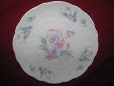 "Aynsley Little Sweetheart 8.25"" Salad Plate Molded Crocus Shape ENGLAND"