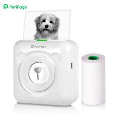 Tragbar Mini Thermodrucker für Smartphone Handy Fotodrucker Rechnung Etikett USB