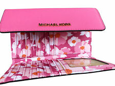 Michael Kors Jet Set Travel Large Trifold Wallet Electric Pink Floral Saffiano
