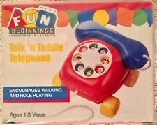 "1989 Avon Fun Beginnings ""Talk'n Toddle Telephone"" Adventures In Learning *Nrfb*"