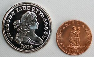 2 Fantasy Coin Lot 1804 Liberty & 1838 Man/Woman Brother/Sister Coins You Decide