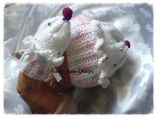Tejer patrón #61 (no el de punto artículo) Magdalena Sombrero Conjunto para Bebé 0-3m