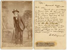 1881 OLD SEXTON OF PLYMOUTH, MASS., CLEMENT BATES BY ROGERS OF PLYMOUTH CAB CARD