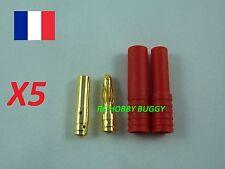 Connecteurs Plug OR Pk Bullet 4mm +protection(Lipo,HXT,prise banane)