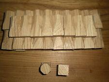 10 Ziernägel Holznägel schraubbar Fichte 28x28x24mm neu