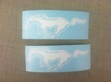 Ford Mustang GT Horse Car Custom any color logo Decal window Sticker white pair