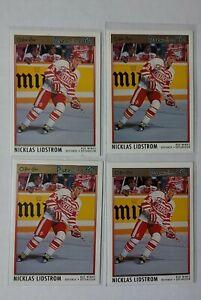 Nicklas Lidstrom 1991-92 OPC Premier Rookie #117 4 Card Lot Detroit Red Wings RC
