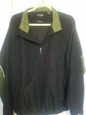 Bolle Golf Jacket Black Pullover Rain Water & Wind Resistant 1/4 Zip M Euc