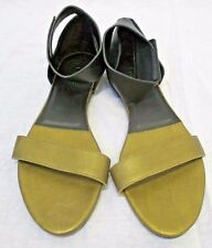 CHLOE Black & Bronze Leather Two Tone Ankle Strap Sandal - Size 39 - New $525