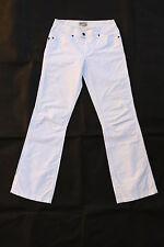 Tommy Hilfiger Sadie Pantalones De Verano Blanco Bootcut Nylon algodón de pierna W26 L32 uk8