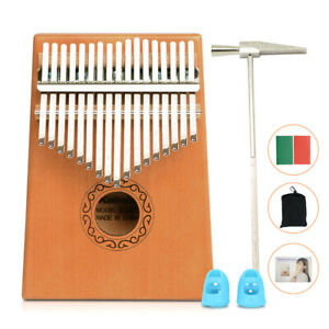 17 Key Kalimba Thumb Piano Finger Mbira Mahogany Keyboard Music Instrument Wood