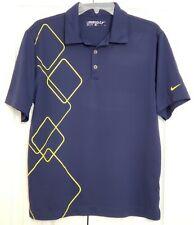 Nike Golf Dri-Fit Polo Shirt Blue Size Small