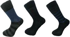 Mens Diabetic New  Socks Cotton Rich NEW STICHES  AND Stripes 12 Pairs Size 6 11