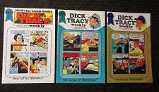 1988 DICK TRACY WEEKLY #44 45 75 VF+ Blackthorne by Chester Gould LOT of 3