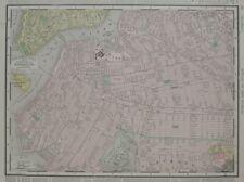 Original 1895 Elevated Railroad Streetcar Map BROOKLYN New York City Flatbush