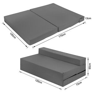 Double Z Bed Fold Out Cotton Spare Guest Bed Sofa/Chair/Futon/Mattress GREY