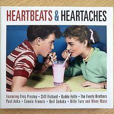 2CD NEW - HEARTBEATS & HEARTACHES - Rock & Roll Pop 50s 60s Music 2x CD Album