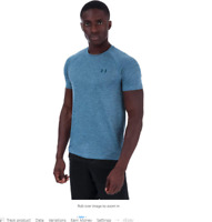 NEW w/tags Men's Under Armour Tech 2.0 T-Shirt Thunder/Petrol Blue, Size: Small