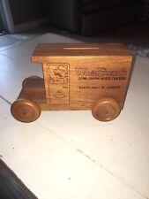 vintage toystalgia 1978 wooden bank delivery truck wheatsworth