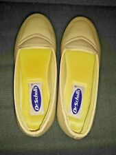 Dr Scholl's Womens Slip On Shoes 7 Beige Tan Leather LIGHTWEIGHT No Box