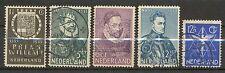 Nederland NVPH 252 - 256 gebruikt (4)