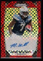 MIKE WILLIAMS 40/99 MINT ROOKIE AUTO PRIZMS RED POWER REFRACTOR RC SP 2017 PRIZM