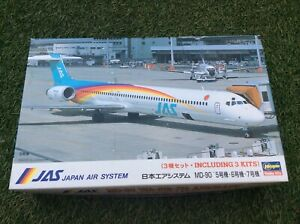 MODEL KIT JAS JAPAN AIR SYSTEM  ( 3 KITS IN ONE BOX )  BY  HASEGAWA   1:200