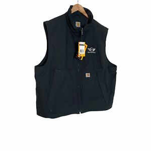 Carhartt Jefferson Quick Duck Quilt Lined Vest LG Water Repellent 3M Thinsulate