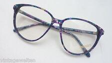 Rodenstock Brille Damen bunt gemustert Vintage 70s big size XXL Form NeuwareGr.M
