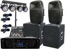 Il Pa Completo Set-3 Party Band Impianto Luce LED Dj USB Stereo 5000 Watt