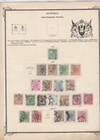austria early stamps  on album page ref r11454