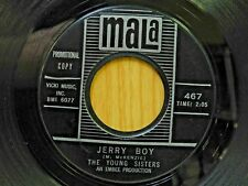 Young Sisters promo 45 Jerry Boy bw She Took His Love Away on Mala