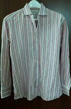 Princeton Custom Tailors Men's 100% Cotton, Classic Fit,Pink/white, L/S Shirt M