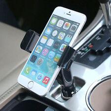 Universal Cell Phone USB Car Charger Cigarette Lighter Mount Car Holder Hot