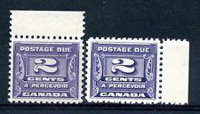 Weeda Canada J12 VF MNH 2c violet 1933-34 Postage Due shades CV $60+